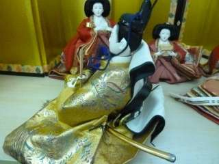 Japanese hina doll Emperor & Empress with ladies #5 ~How cute