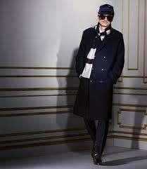 LANVIN for H&M Mens Unisex Black Beige Striped Scarf