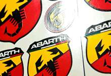 HQ ABARTH Sticker Decal Emblem Logo Badge Aufkleber Autocollant