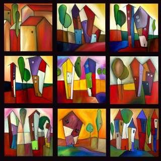 HUGE CONTEMPORARY ART MODERN HOUSE PAINTING FIDOSTUDIO