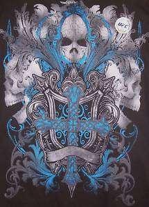 UFC MMA Elite Chuck Lidell Skulls Rampage T Shirt