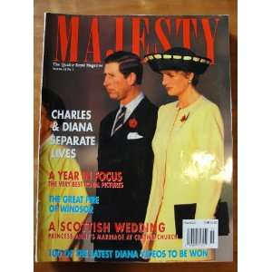Majesty Magazine January 1993 vol 14 no 1, Princess Diana