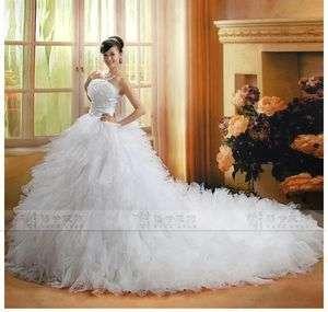 Quinceanera Ball dress wedding Bridal Dress Long Train Gown