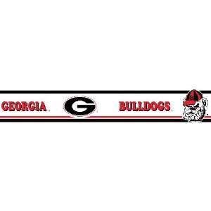 Georgia Bulldogs Wallpaper Border   Collegiate Wall Border