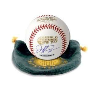 Jeff Francis Signed World Series Baseball UDA Sports