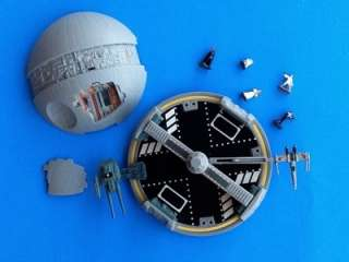 STAR WARS MICRO MACHINE DEATH STAR MINI PLAY SET GALOOB AS IS