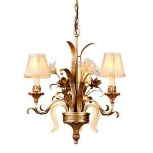 CHANDELIER, TIVOLI SILVER Finish   ORO BIANCO VENETIAN Glass   PINCH