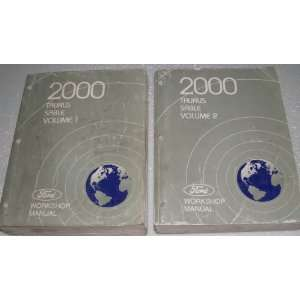 2000 Ford Taurus, Mercury Sable Workshop Manuals (2 Volume Set) Ford