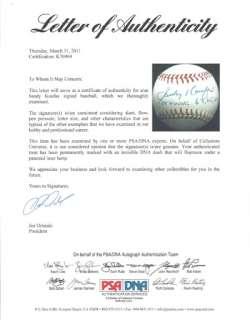 Sandy Koufax Autographed Signed MLB Baseball Cy Young 63 65 66 PSA/DNA
