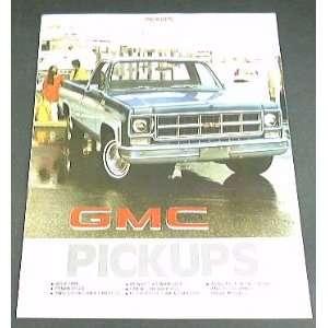 1977 77 GMC PICKUP Truck BROCHURE SIERRA C1500 C2500