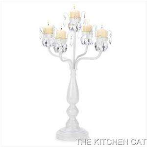 Shabby candelabra candleholder wedding chic chandelier french country