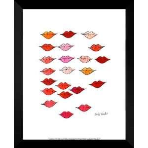 Andy Warhol Framed Pop Art 24x30 (Stamped) Lips, c. 1959