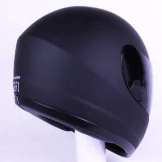 Full Face Motorcycle Helmet Matte Black DOT +2 VISOR Size S, M, L, XL