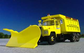 port authority jfk international airport r mack dumptruck with plow