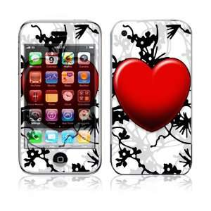 Floral Heart Decorative Skin Cover Decal Sticker for Apple