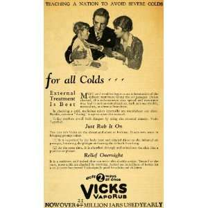 1929 Ad Vicks VapoRub Sick Child Colds Breathing Aid