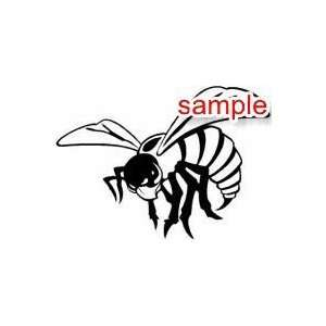 NATURE AND INSECTS HORNET BEE 10 WHITE VINYL DECAL