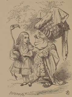 1889 book ALICE IN WONDERLAND vtg Alices Adventures