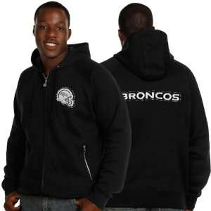 Denver Broncos Black Saddle Stitch Full Zip Hoodie