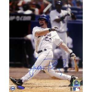 Mets Jason Phillips Big Swing 8 X 10 Photograph
