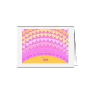 Sunshine Hearts   Daughter Valentine Card Card Health