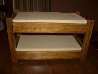 Handcrafted Doll Bunk Beds for American Girl Doll