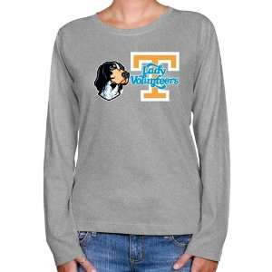 UT Vol Tee Shirt : Tennessee Lady Vols Ladies Ash Smokey Long Sleeve