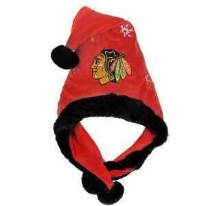 Chicago Blackhawks NHL Official Team logo rink Dangle Santa Hat *NEW