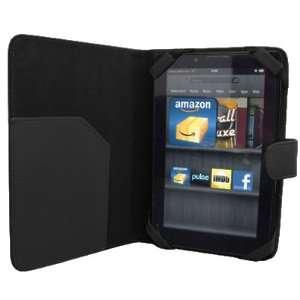 EMPIRE  Kindle Fire Black Leather Folio Strap Case