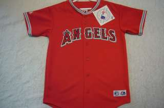 100% Licensed Majestic ANAHEIM ANGELS BLANK Baseball Jersey RED