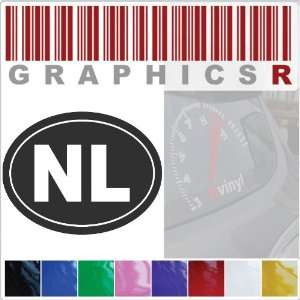 Code Oval o Pride NL Netherlands Holland b110   Red Automotive
