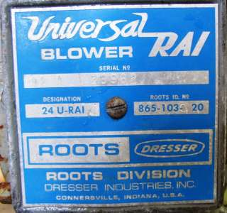 HP USED ROOTS DRESSER BLOWER PACKAGE MODEL 24 URAI