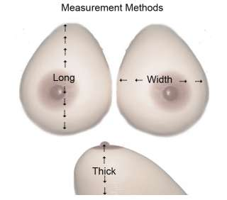 Silicone Breast Forms Cross Dresser CUP SIZE A B C D E