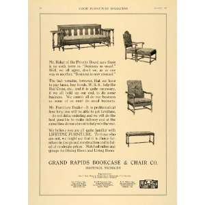 1918 Ad Couch Chair Grand Rapids Bookcase Chair Company