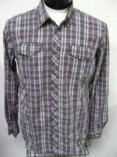 NEW Pepe Jeans London REBEL L/S Gray Plaid SNAP Shirt L