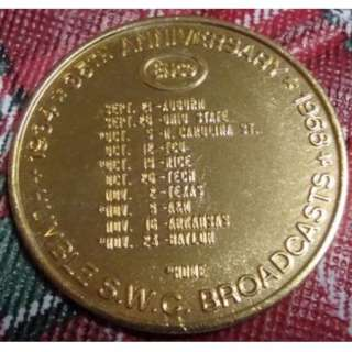 1968 SMU HUMBLE OIL ENCO Coin Schedule