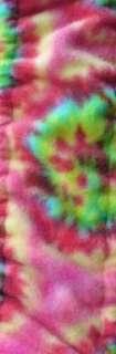 Car Truck Universal Grip Steering Wheel Cover Tie Dye Pink Lime Orange