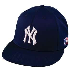 BAMBOO FLAT BRIM Flex FITTED Lg/XL New York YANKEES Home NAVY Hat Cap