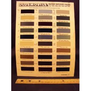 1946 HUDSON Paint Colors Chip Page Hudson Motor Car Company Books