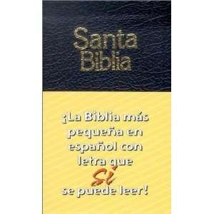 Santa Biblia: La Biblia mas pequena en espanol con letra que se puede