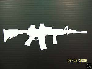 223 AR AR15 AR 15 M4 black rifle sticker decal vinyl