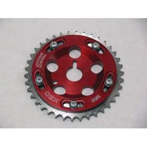 OBX Red Adjustable Cam Gear   91 02 Saturn 1.9L SOHC