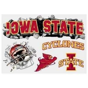 Iowa State Cyclones Wallcrasher Wall Decal Multi Logo 5
