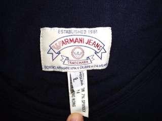 ARMANI JEANS NAVY BLUE RAYON LONG DRESS LARGE L
