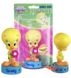 LOONEY TUNES TWEETY BIRD Bobble Head Air Freshener NEW