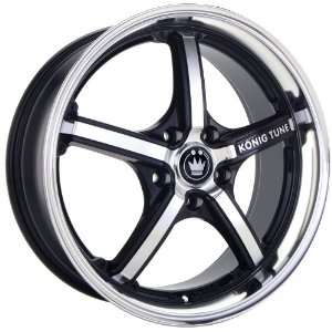 15x6.5 Konig K Tune (Gloss Black w/ Machined Face) Wheels