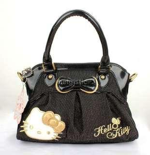 Black HelloKitty Kitty lady Girl Shoulder Bag Purse Handbag Tote