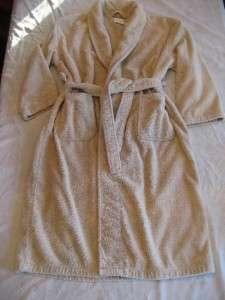 robe L XL large women men ivory turkish cotton bath spa!!