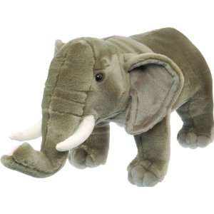Natural Poses African Elephant 15 by Wild Republic Toys