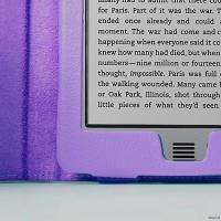 PU Leather Folio Case Cover for  Kindle TOUCH Wi Fi   PURPLE